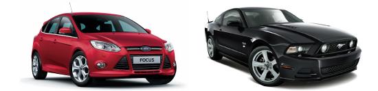 教習車としてフォーカス、マスタングをご用意。体験試乗会も開催します。